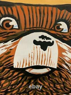 Vintage Wooden Smokey The Bear Sign LARGE GAS OIL SODA COLA