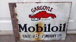 Vintage enamel sign for Mobil oil