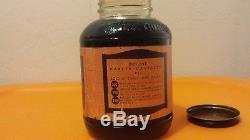 Vintage harley davidson oil can, jar, and porcelian sign
