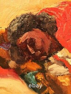 Vintage oil painting. Valencian Matador. Bullfighter. Mid century. By Persona