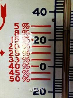 Vtg 1920s/30s Standard Oil Polarine Oil Porcelain Thermometer 6 Sign