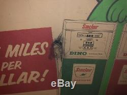 Vtg Early 1960s Sinclair Gasoline Motor Oil Cardboard Promo Ad Sign Rare 50