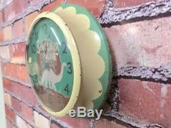 Vtg Ingraham Sinclair Oil Dealer Advertising Gas Station Garage Wall Clock Sign